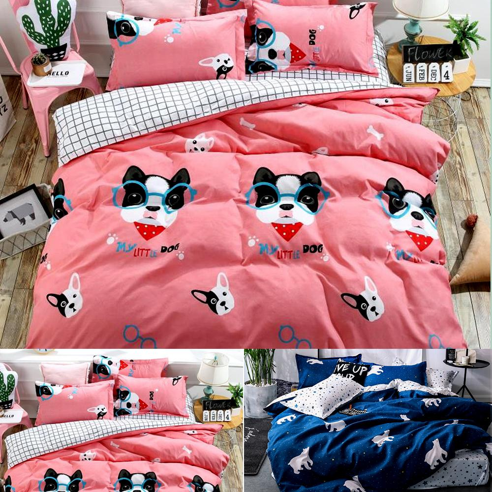 4427193dbc Cartoon Polar bear Bedding Sets Children's Beddingset Bed Linen Duvet Cover  Bed Sheet Pillowcase/bed Sets