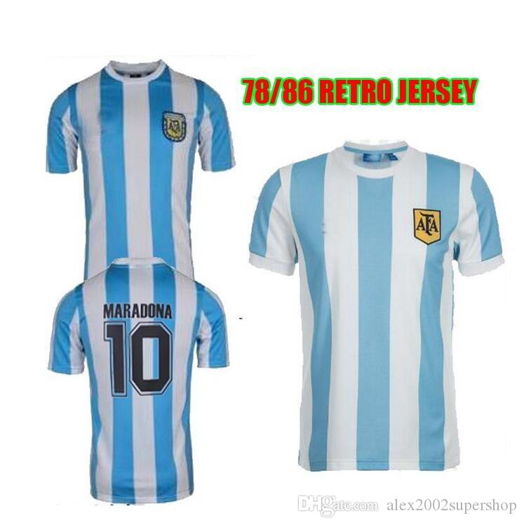 b3aba5d07 2019 86 Argentina Retro Jersey Maradona 1986 Vintage Classic 78 Argentina  Maradona 1978 Shirts Maillot Camisetas De From Alex2002supershop, $19.29 |  DHgate.