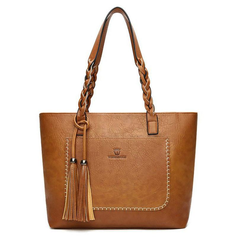 3768ed9176 Luxury Handbags Women Bags Designer Laptop Hand Bag Tassel Plaited Large  Capacity Casual Top Handle Tote Bags for Women Shoulder Bag Bolsa