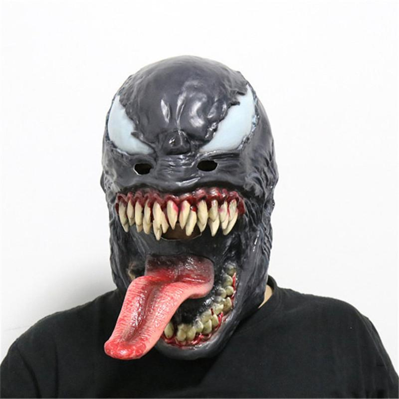 cosplayen das Gift Maske Edward Brock Dunkel Venom Superheld Latex Maske Horrible Masken Partei-Dekoration