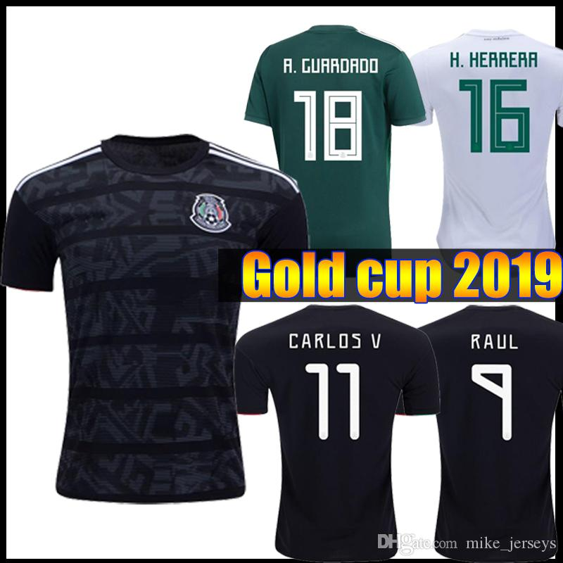 4747351e7 2019 2019 Mexico GOLD CUP Black KIT Soccer Jerseys 2018 World Cup Home Away  CHICHARITO Camisetas De Futbol H.LOZANO G.DOS SANTOS Shirts From  Mike jerseys