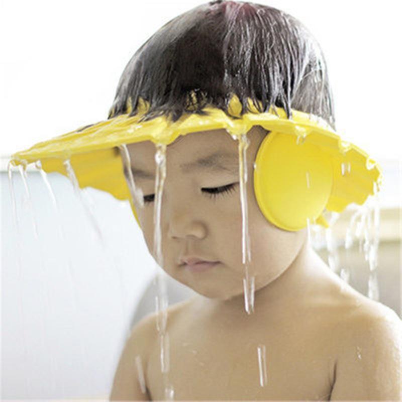 Shampoo-haube Bad & Dusche Produkt Baby Dusche Caps Shampoo Kappe Waschen Haar Kinder Bad Einstellbare Elastische Schild Wasserdichte Ohr Schutz Auge Kinder Hüte