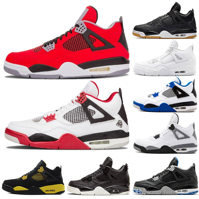 3e06fcd69d27 2019 Designer Sneakers Bred 4s Mens Basketball Shoes IV 4 For Men Raptors Fire  Red Pure Money Black Cat Thunder Alternate 89 Athletic Shoes From ...