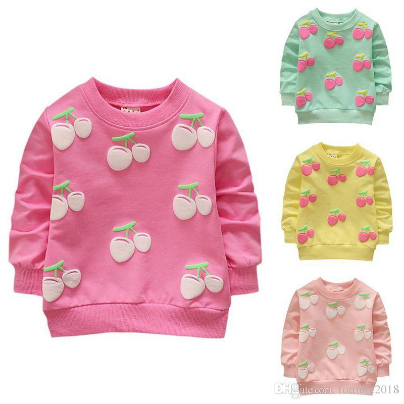 ba7b8aac13d 2019 Baby Girls Sweater Casual Long Sleeve Soft Newborn Children Pink  Yellow Grass Green Sweaters Kids Outfits Girls Designer Clothing From  Fortnite2018