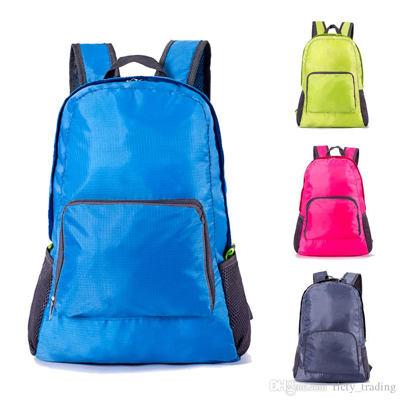 Lightweight Nylon Foldable Backpack Traveling Waterproof Backpack Folding bag Ultralight Outdoor Pack for Women Men Travel Hiking