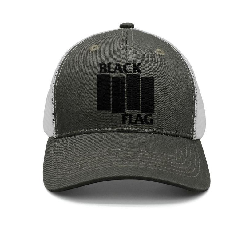 b65b27112 Black Flag bars Logo army-green mens and women trucker cap baseball styles  designer running hats