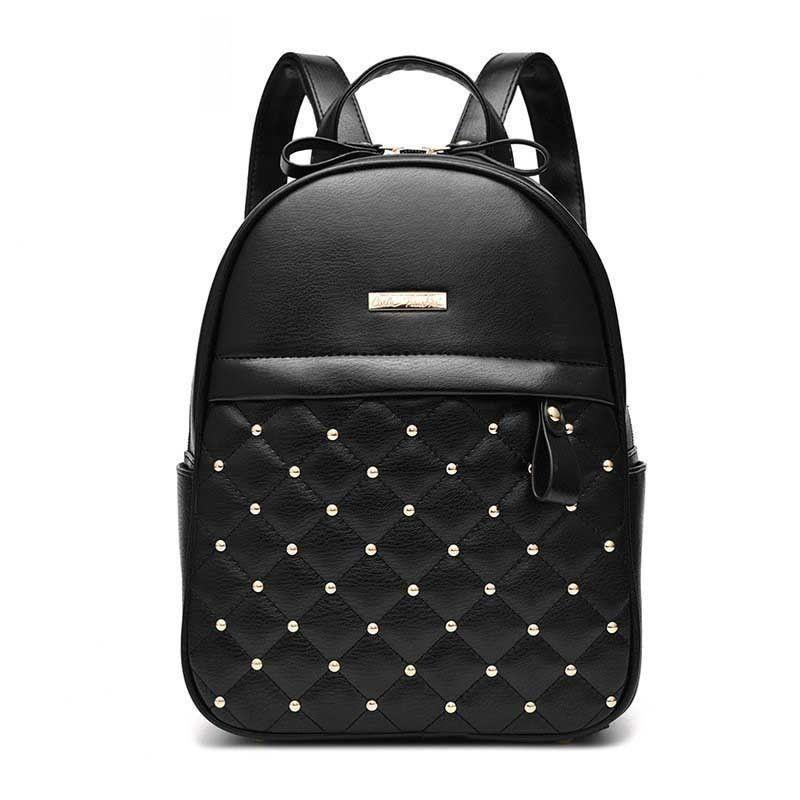 54ebf05b6aec Luxury Leather Backpacks For Teenage Girls Fashion Brand Women Pu Bagpack  School Bags For Teenagers Mochila Escolar Rucksack Running Backpack Osprey  ...
