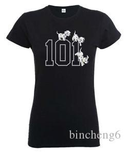 Brand 101 Dalmatians '101 Doggies' Womens Fitted T-Shirt - NEW & OFFICIAL!