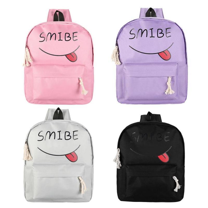 Women Backpacks Canvas Backpack women Smilely Face Schoolbags Feminina sac a dos bags for 2018 Bolsos Feminina