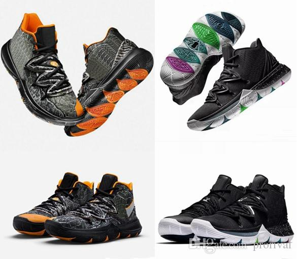 b33ccf0416ab 2019 Limited 5 5s V Basketball Shoes For Men Black Magic Kyrie Chaussures  Sports Sneakers Mens Trainers High Ankle Zapatillas Size 40 46 Shoes  Sneakers ...