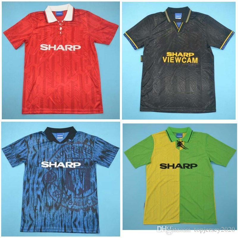 219226681 Compre 1994 MAN UT Retro Jerseys 92 93 94 Camisa De Futebol De 1993 Giggs  Camisa De Futebol De Giggs Paul Scholes Roy Keane Beckham 1992 De  Topjersey2020