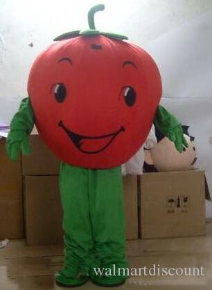 2019 Factory Outlets Rapid Make Two styles EVA Material tomato Mascot Costume fruit Cartoon Apparel advertisement