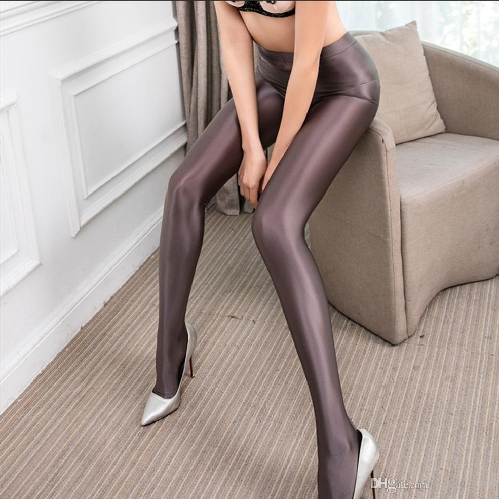 3945148d772 2019 LEOHEX Satin GLOSSY OPAQUE Party Shiny Pants Stockings Pantyhose Shiny  Wet Look Tights Pantyhose Sexy Socks  73861 From Jersey 2018