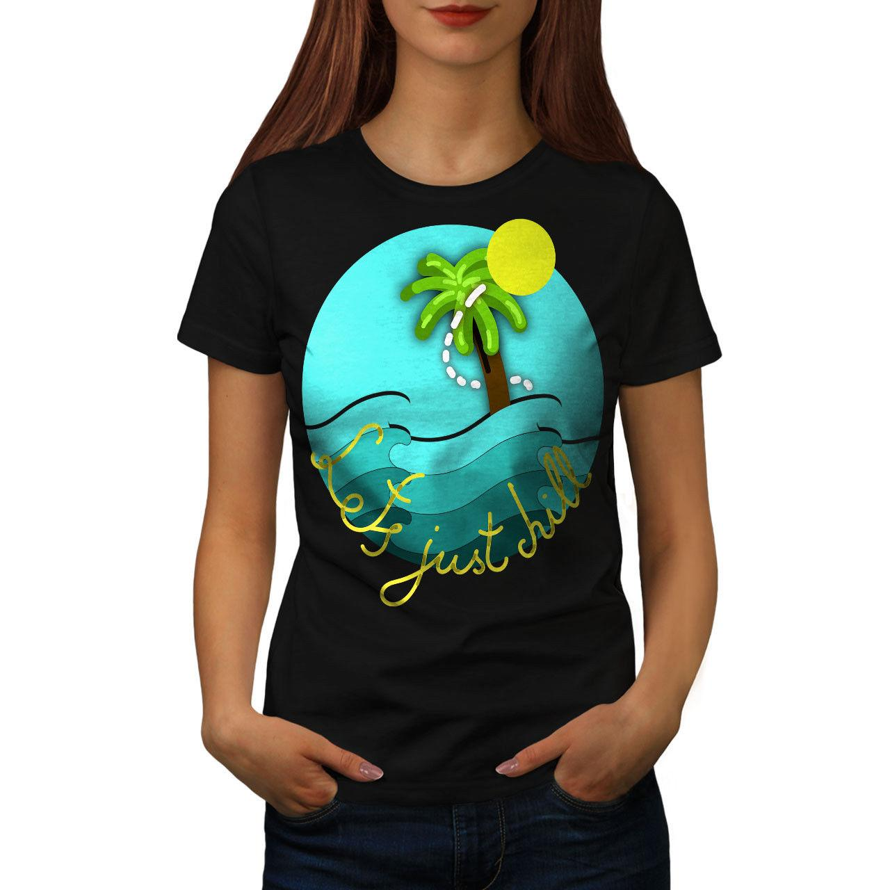 51b6c0f0c543 Chill Palm Travel Holiday Women T Shirt NEW | Wellcoda T Shirts Buy Online  Humor Tees From Besttshirts201805, $10.66| DHgate.Com