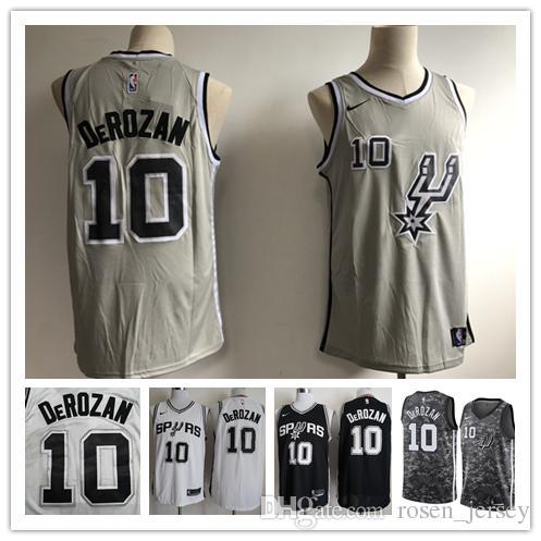 release date: affc5 7af5a 2019 New The City Edition 10 DeMar DeRozan Jersey Stitched Mens San Antonio  Spurs DeMar DeRozan Basketball Jerseys White Black Gray