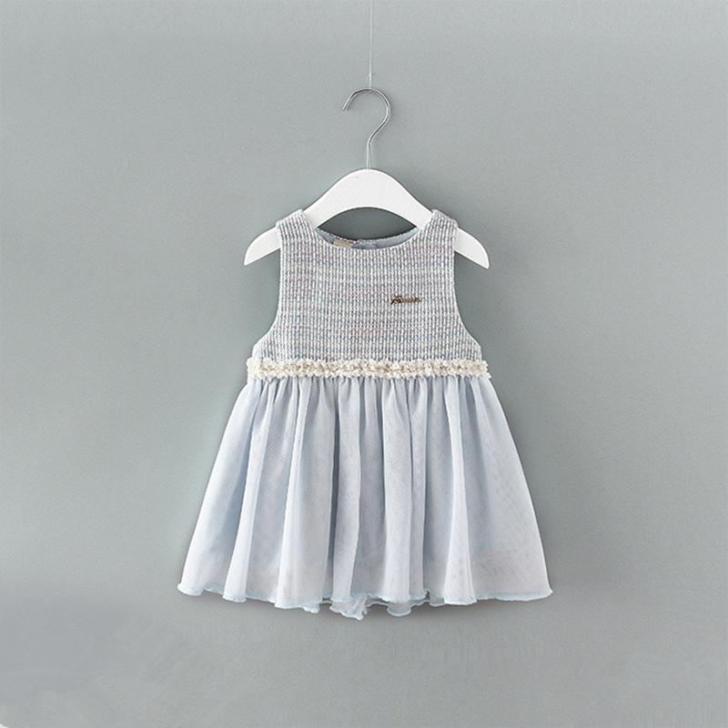 2d7a2958e Baby Girl Dress 2019 Spring Toddler Kids Girls Party Eventos formales  Vestidos de bautizo de cumpleaños Vestido de bola con lazo grande 0-2y azul  ...