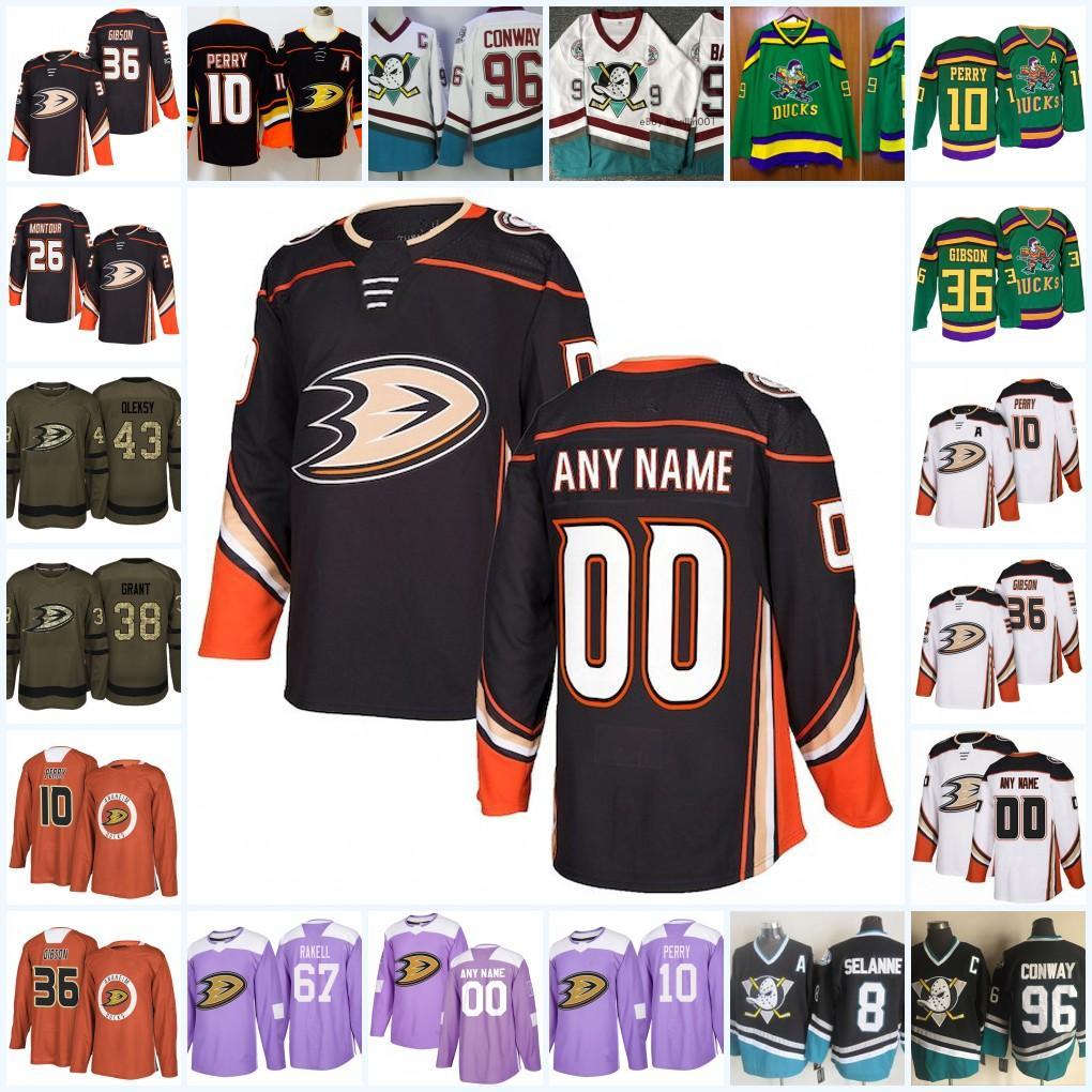 1b7fc50f8 Compre Camiseta Personalizada Anaheim Ducks Ryan Getzlaf Ryan Kesler Corey  Perry John Gibson Rickard Rakell Hampus Lindholm Mighty Patos A  27.11 Del  ...