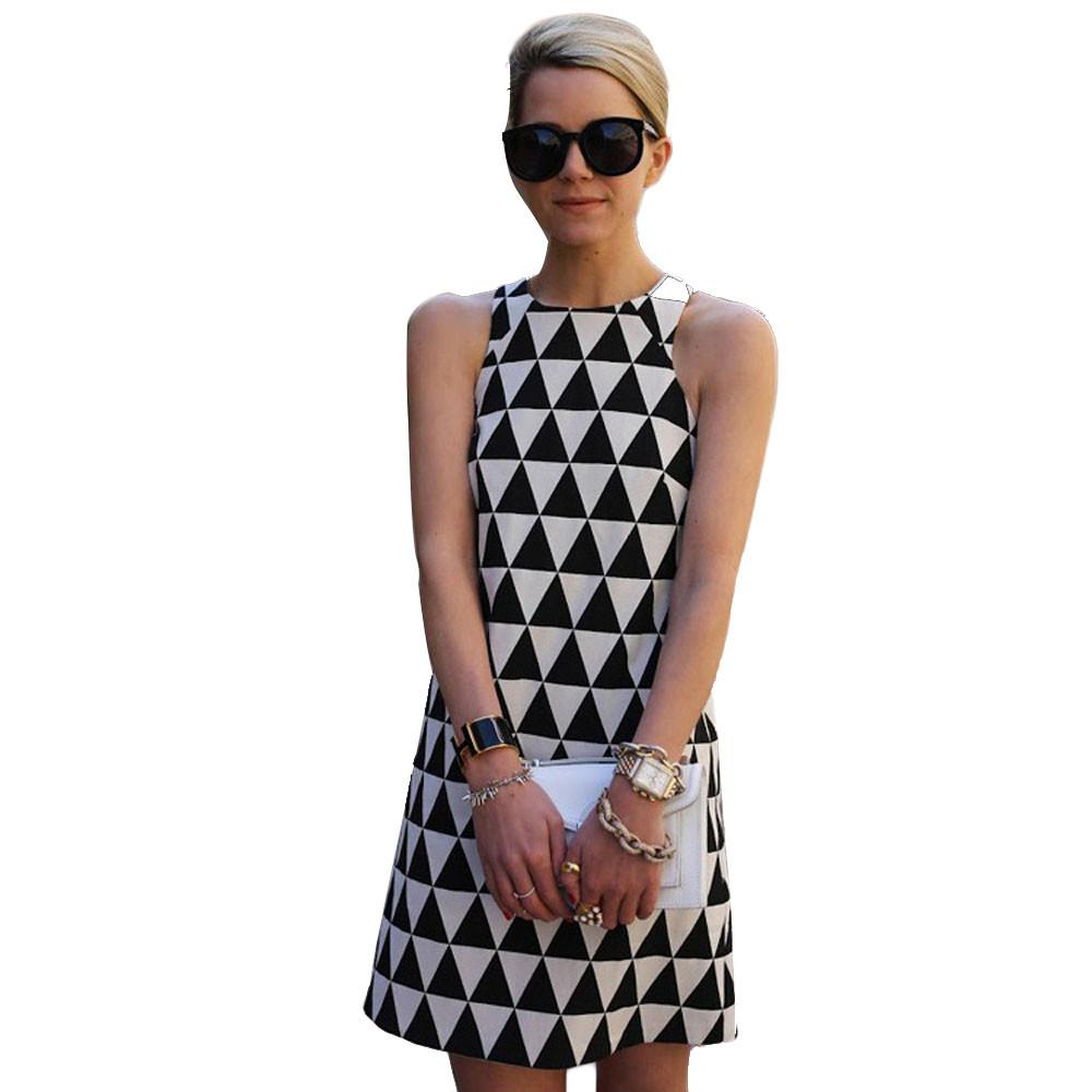 Dress Women 2019 Black Dress A-Line Sexy Summer Casual Sleeveless Party Beach Short Mini robe femme-30