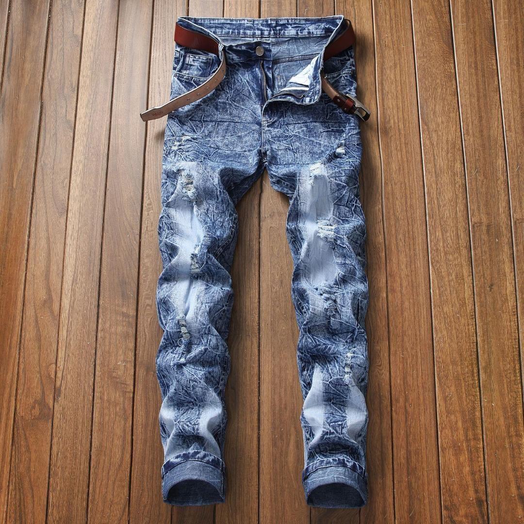 c4103b76fef2e Satın Al 2019 Erkek Bahar Kot Homme Düz Denim Kot Erkekler Rahat Uzun Pantolon  Pantalon Homme Jean Pantolon Klasik Mavi Jean, $34.44 | DHgate.Com'da