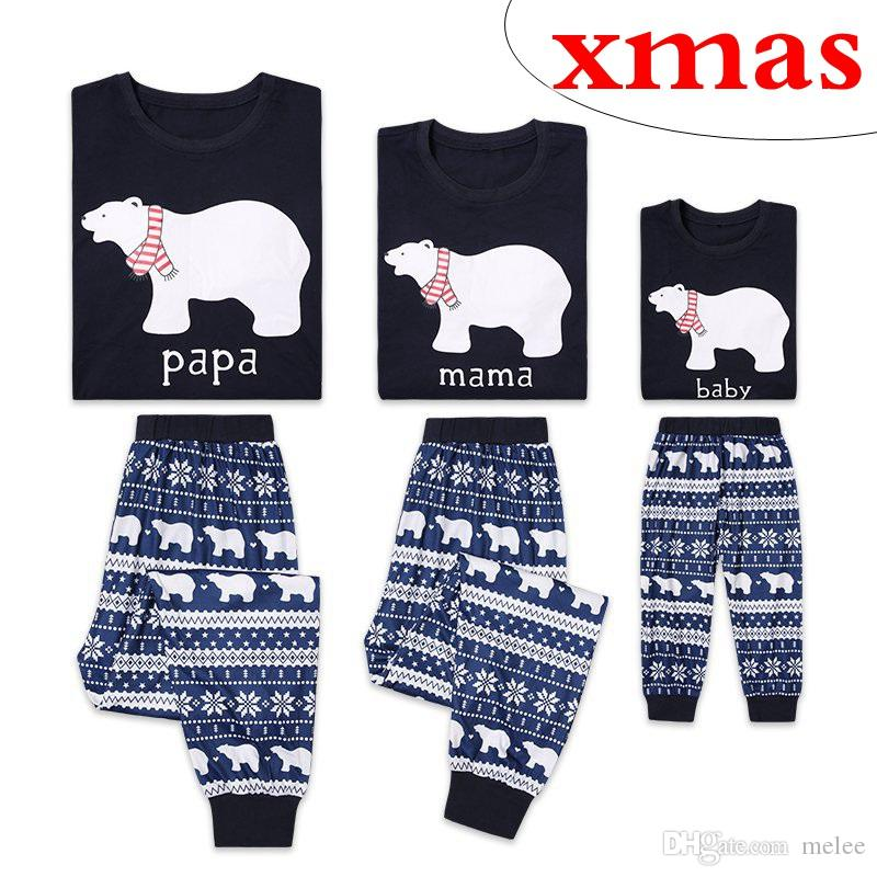 2c10523cf9924 Acheter Pyjamas De Noël Tenues Assorties Noel Ours Polaire Vêtements De  Nuit Mère Et Fille Père Fils Correspondant Vêtements Xmas Homewears De   8.29 Du ...