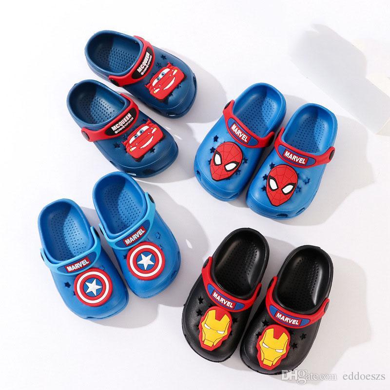 Super Jungen Schuhe Baby Kinder Skid Spider Eva Kapitän Hero Iron Avengers Man Marvel Sandalen Anti Beach Hausschuhe Cartoon Ganzes Wear A5RL4j