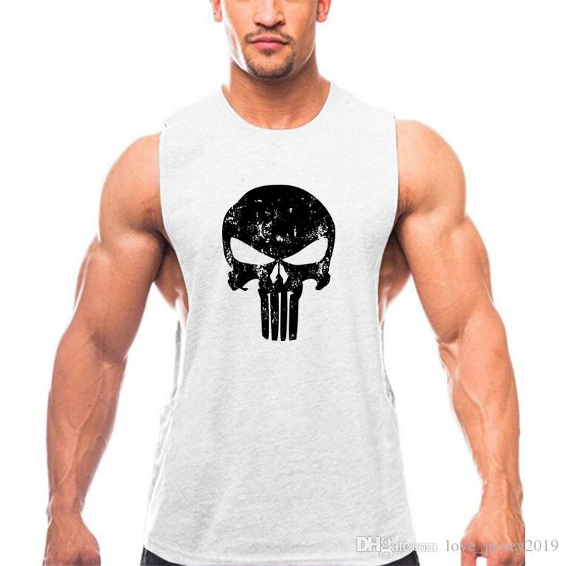 8535559e06a8b6 2019 Brand Punisher Clothing Men Tank Tops Skulls Bodybuilding Tank Top  Gyms Fitness Men Vest Sleeveless Shirts Workout O Neck Tops  271712 From ...