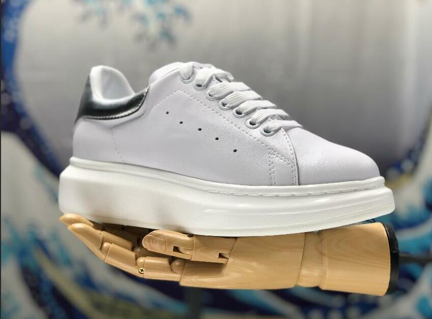 7b1653c955b cheap online summer best Leather Mens Womens Fashion White Leather  comfortable Shoes Mc Low-Cut Fashion Flat Casual slip on formal shoe shop