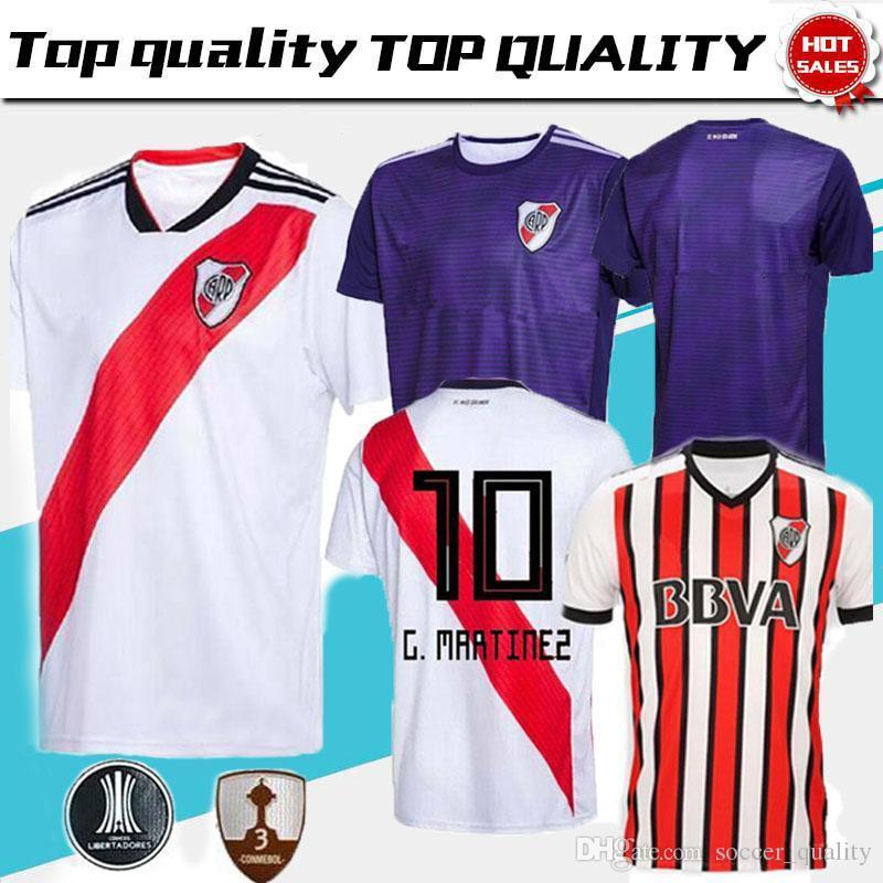 5f3dc4097 Compre 2019 River Plate Casa Camisa De Futebol Branco 18 19 Camisa De  Futebol Em Casa Do Rio Camisa 2018 Uniforme De Futebol Personalizado Vendas  Camisa De ...