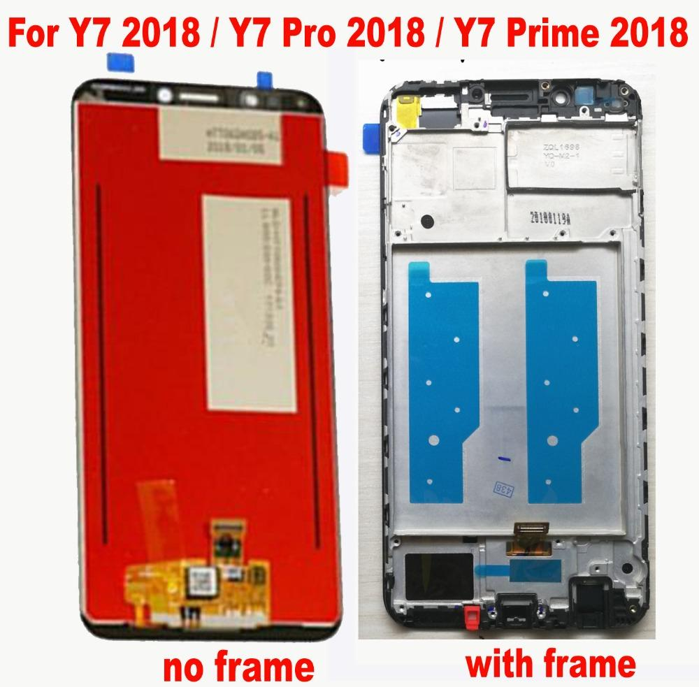 100% Tested For Huawei Y7 2018 / Y7 Pro 2018 / Prime LCD Display Touch  Screen Digitizer Assembly Replacement Frame