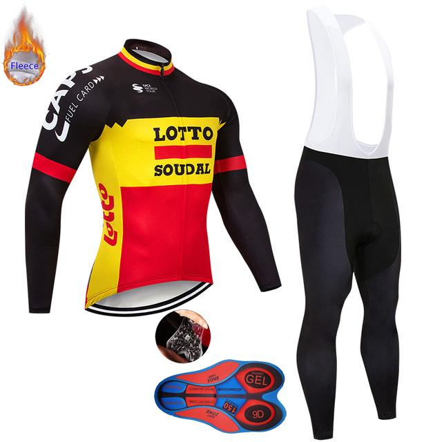 Tour De France 2019 Pro Team LOTTO Winter Long Sleeve Cycling Jersey ... 3efcd2486
