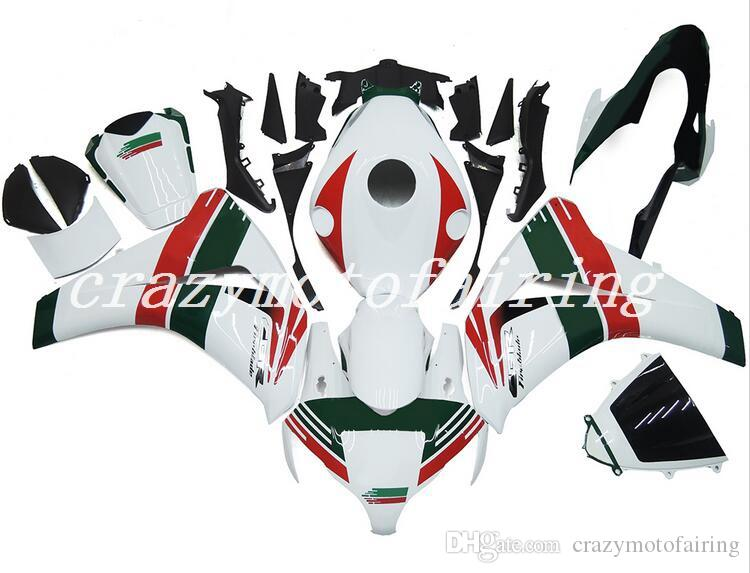 New ABS Injection Molding motorcycle Fairings Kits 100% Fit For Honda CBR1000RR 08 09 10 11 2008-2011 bodywork set Fairing white green red