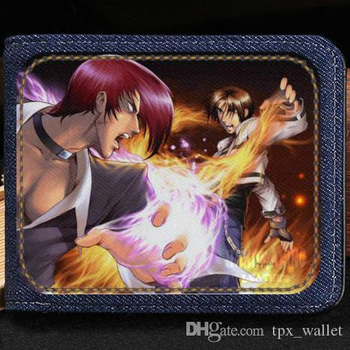 Classic wallet The king of fighter purse Hot game player short cash note  case Money notecase Leather jean burse bag Card holders