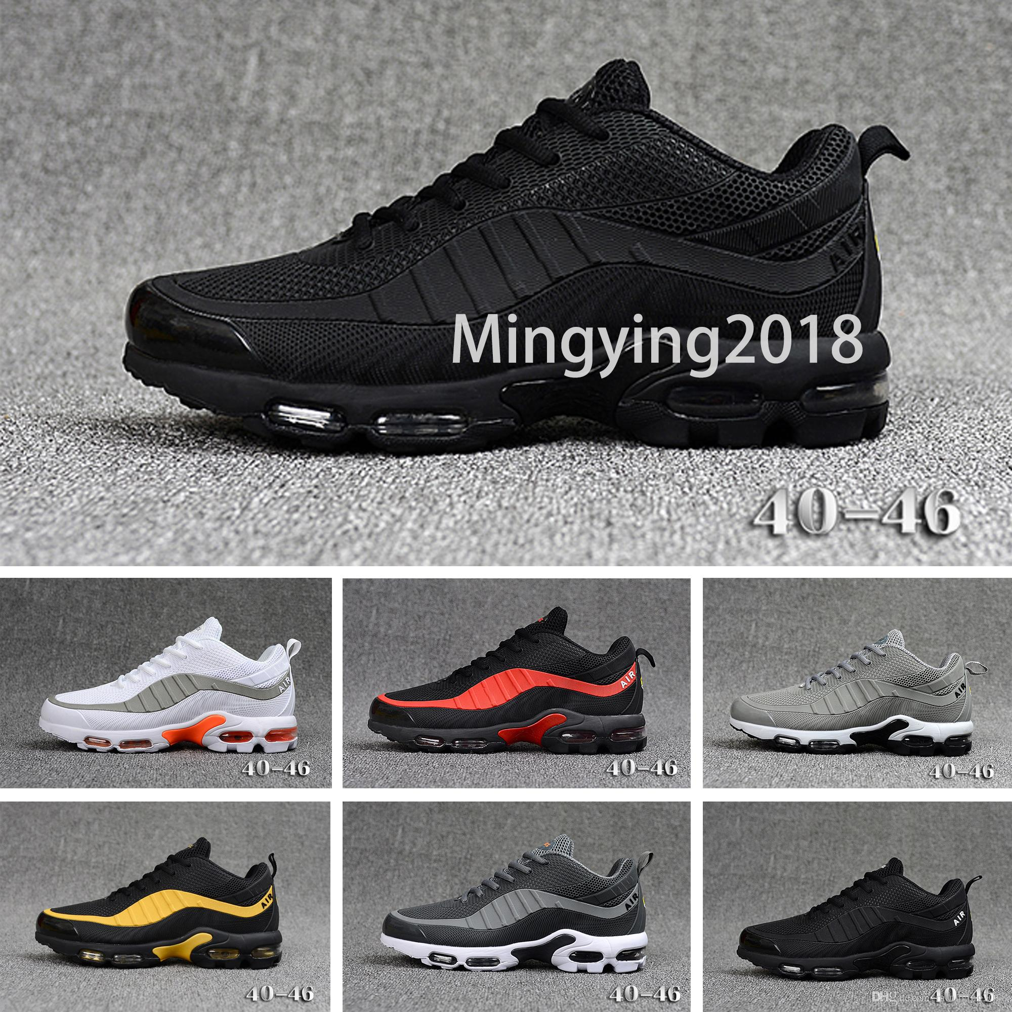 95 Mercurial TN Mens Designer Running Shoes 2019 Men Casual TPU Air Cushion Trainers Chaussures 95s Zapatos Best Hiking Sports Sneakers