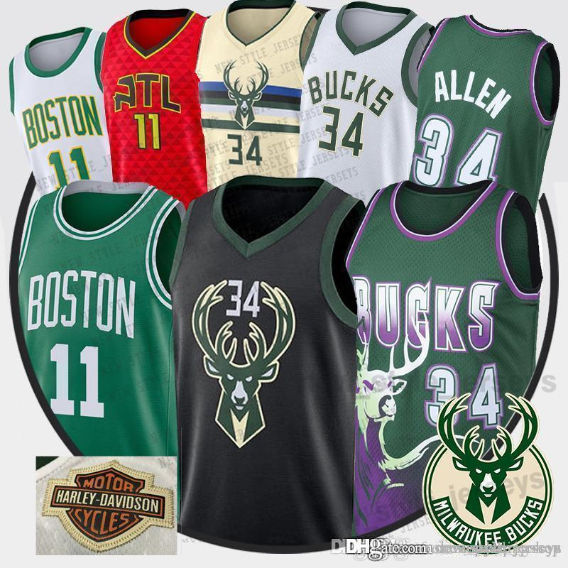 official photos d1486 c92ed 2019 Men Giannis 34 Antetokounmpo Jersey Youth Ray 34 Allen Irving Trae 11  Young Basketball Jerseys