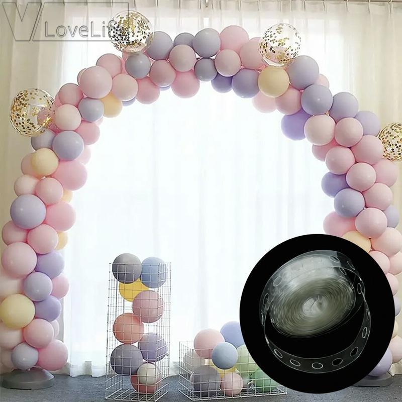 5 m Balon Zincir Bant Kemer Bağlayın Şerit Balon Bağlantı Düğün Doğum Günü Partisi Dekoru için