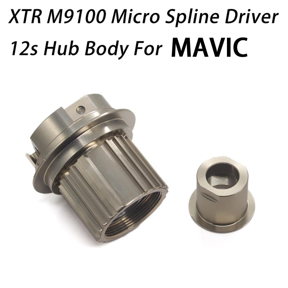 Micro Spline 12s Hub Body M9100 12 Speed Cassette Driver ITS4 for Crossmax  MAVIC Deemax HUB with 142 converter