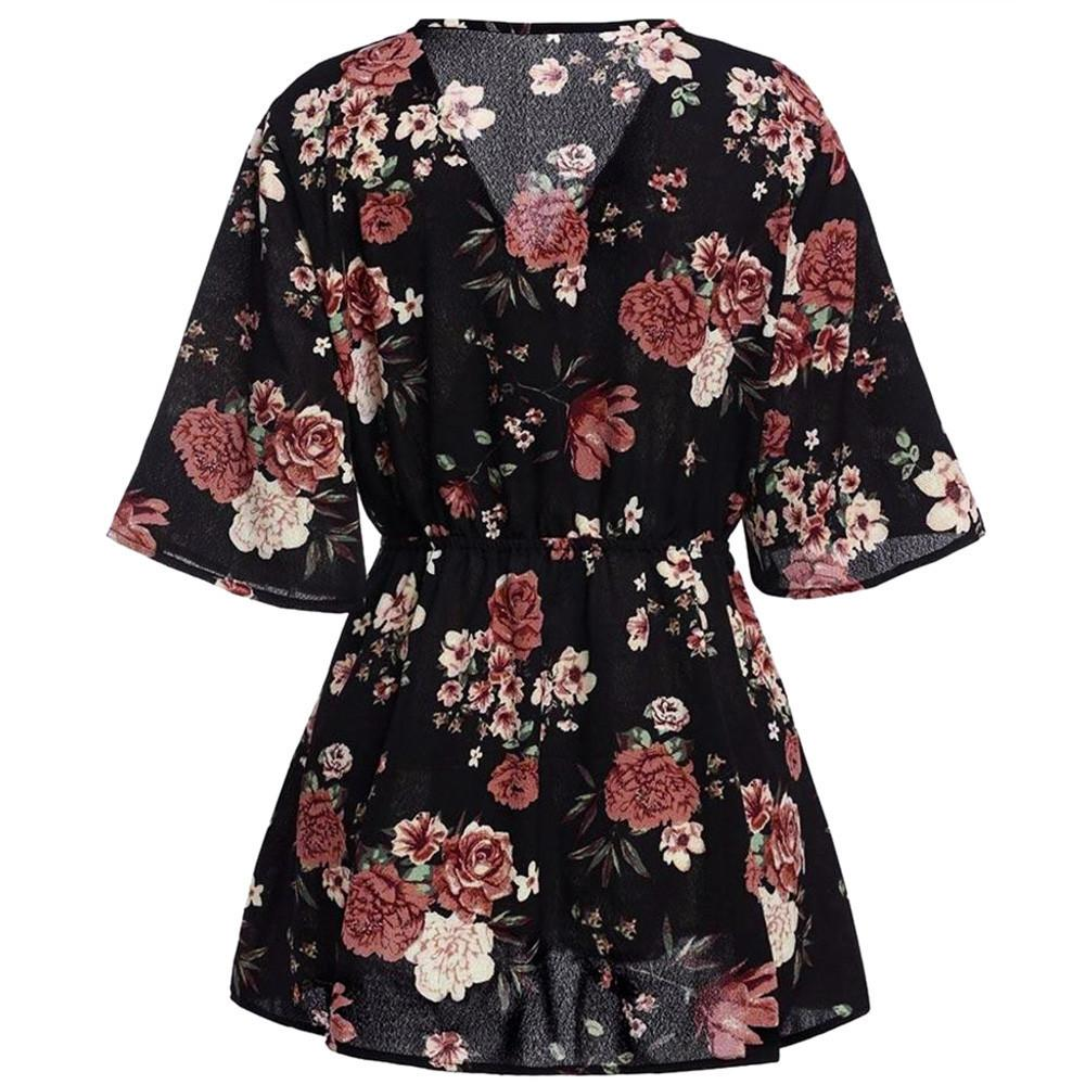 0828bc22ae8 Good Quality Fashion Women Flower Printing Plus Size Sexy Deep V Neck Slim Fit  Flare Summer Loose Lace Short 2019 New Mini Dress Dresses Clothing White ...