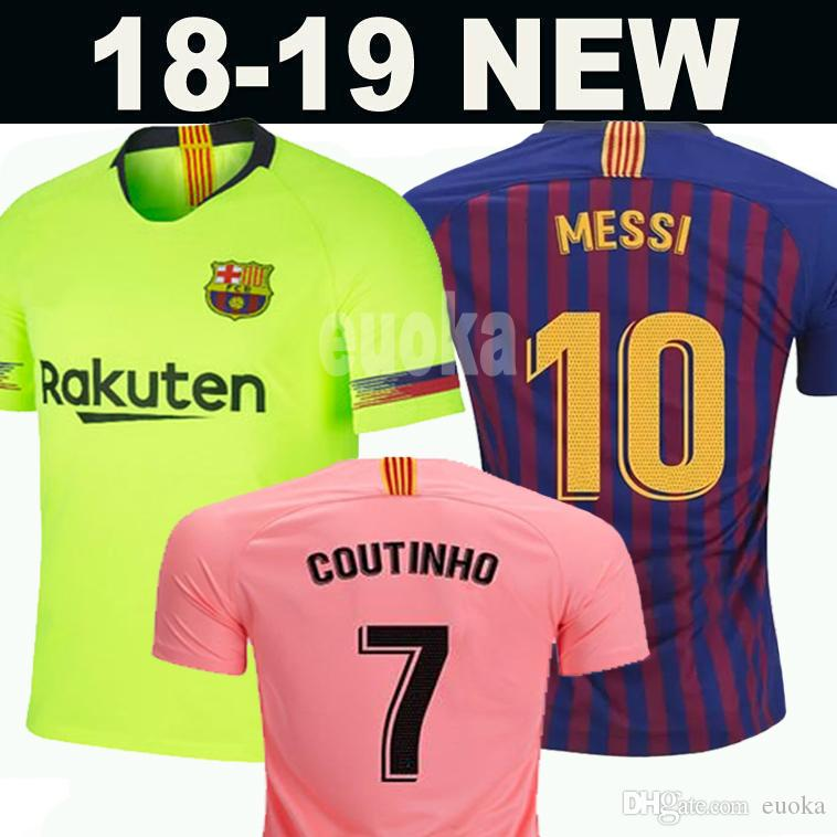 10 Messi Barcelona Soccer Jersey 2018 Hombres Mujeres Niños Kits 8 A.  INIESTA 9 SUAREZ MALCOM Dembele COUTINHO O. DEMBELE Camisetas De Uniformes  De Fútbol ... e08eac18a30c6