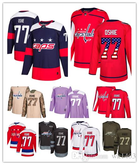 newest collection 926d6 be840 Washington Capital jerseys #77 T.J. Oshie Jersey hockey men women youth  white red Alternate Premier blue Stadium Stiched Jerseys