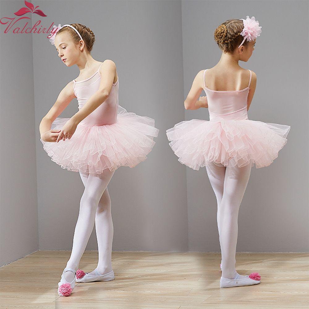 711a6dfd6 2019 New Ballet Tutu Dress Girls Dance Clothing Kids Training Nylon ...