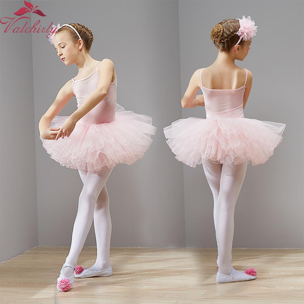 a00227cd48 Compre New Ballet Tutu Dress Meninas Roupas De Dança Crianças Formação  Nylon Trajes De Ginástica Malhas De Ginástica Trajes De Finebeautyone
