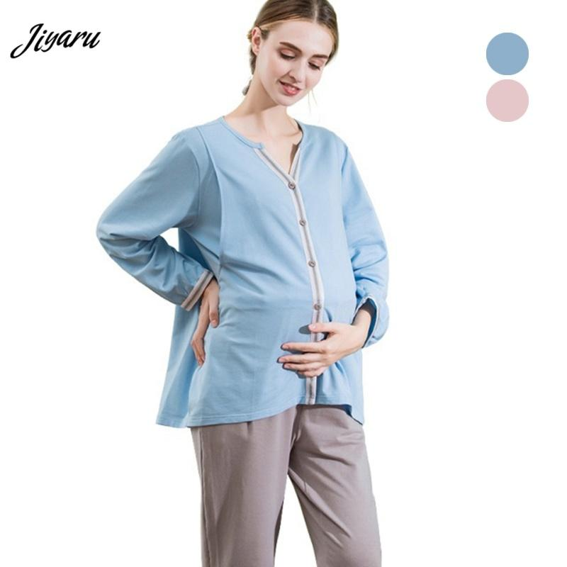 aeec799ec Compre Nueva Llegada Pijamas De Maternidad Pijama Embarazada Conjunto Ropa  De Enfermería Embarazada Maternidad De Invierno De Manga Larga Tops  Pantalones ...