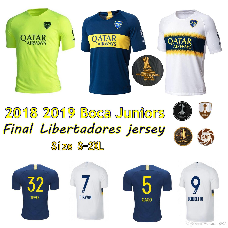 timeless design 680e4 1d6b5 Final Libertadores 2018 2019 Boca Juniors Jersey Home Away 3rd 18 19 Pavon  GAGO TEVEZ ABILA Benedetto Cardona Match football shirts