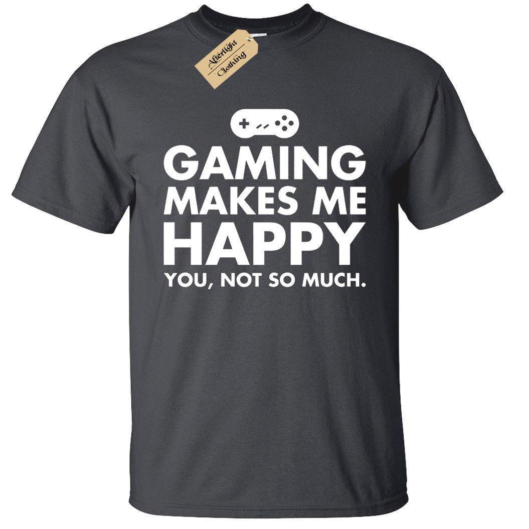 Compre Juegos Me Hacen Camiseta Feliz Divertido Mens Geek Gamer Ps4