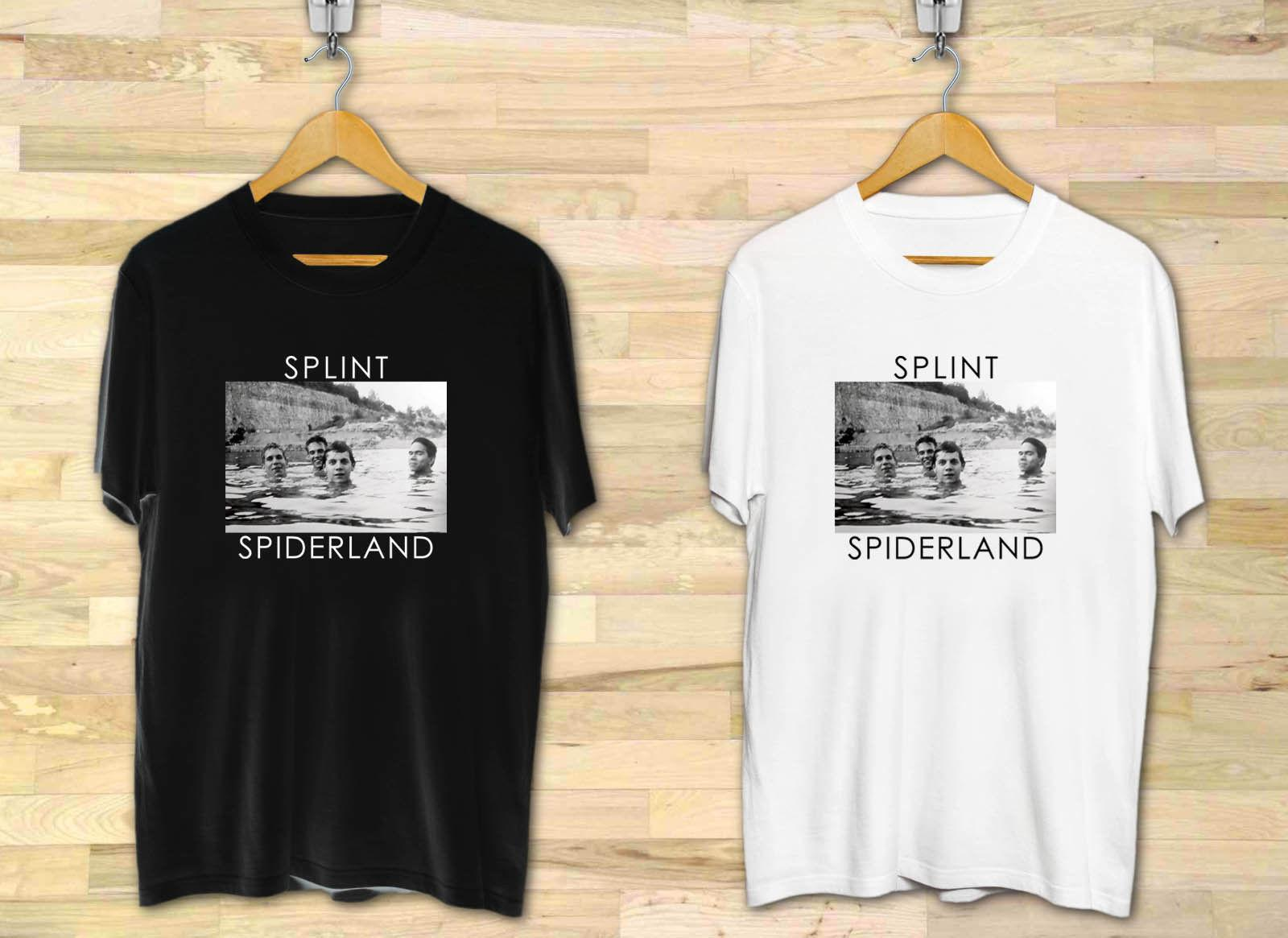 SLINT SPIDERLAND American Rock Band Men's Black White T-Shirt XS to 3XL Funny free shipping Unisex Casual top