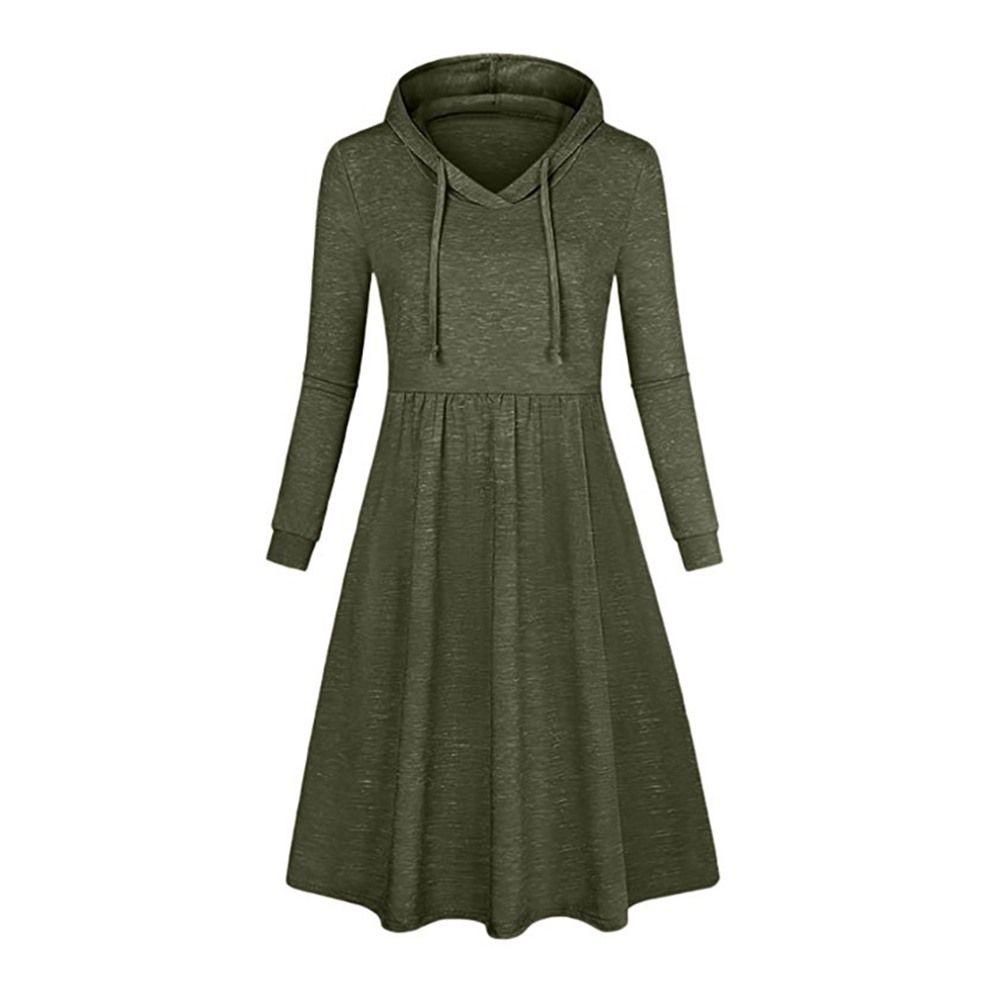 classic 5d393 9552d Bohoartist Hoodie Plus Size XXXL Damen Langarm Kleid Damen Casual Schwarz  Rosa Weiblich Knielang Slim Sweatshirt Kleid