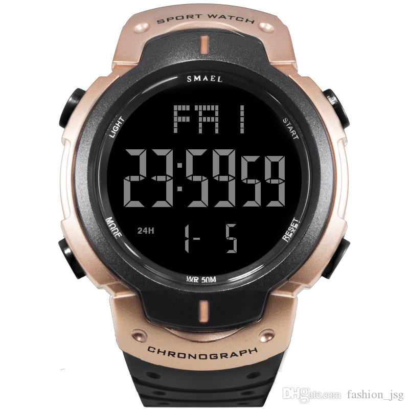 47afecb6809 Compre Casual LED Relógio Digital Homens Esportivos À Prova D  Água Relógios  Mens Militar Relógios De Pulso New Fashion Relógio Masculino Relogio  Masculino ...