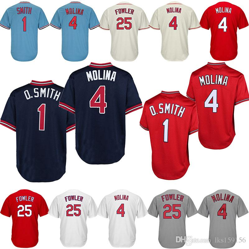 25340cb39036 2019 St. Louis Cardinals Baseball Jerseys 4 Yadier Molina 25 Dexter Fowler  Embroidery Boutique Men Sports Clothes Baseball Sportswear Cheap From  Lks159156