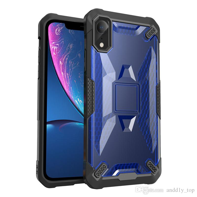 new arrival ed0de 34143 Robot PC Case for iPhone XS MAX XR Phone Protective shell TPU Shockproof  Defender Cover Case for iPhone X 8 6 7 Plus