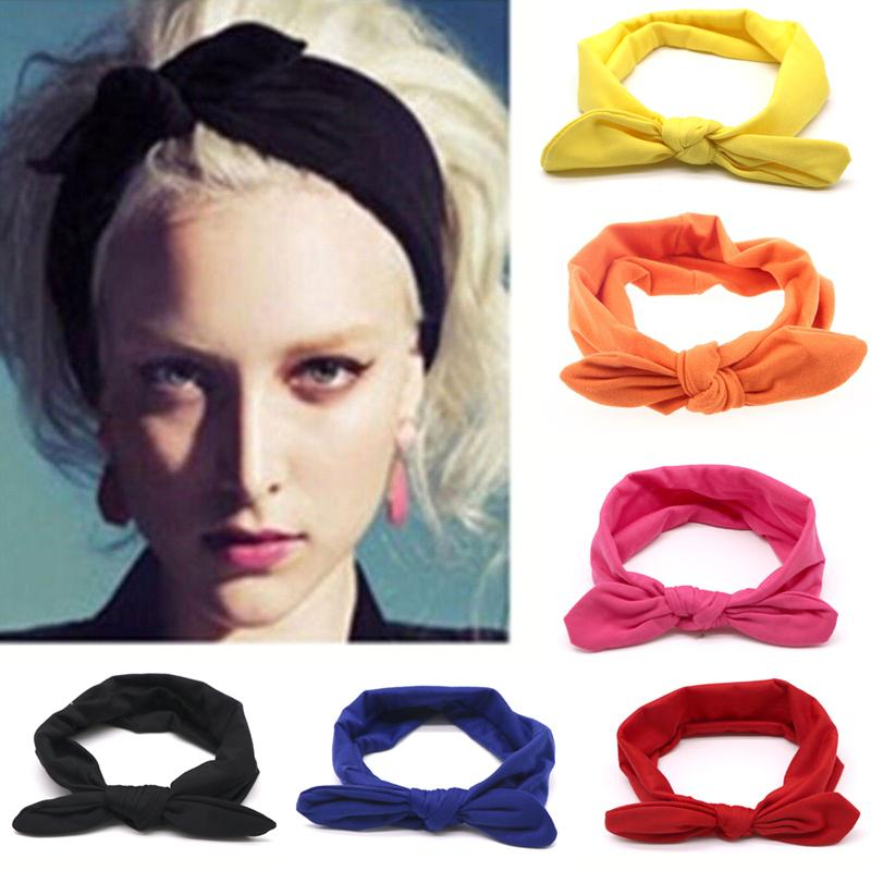 2018 Women Rabbit Knot Bow Rubber Hairband Turban Elastic Hair Band Twisted  Cross Headwear Head Band Girls Hair Accessories Hair Jewelry Jewelry  Headband ... dd919eb3807
